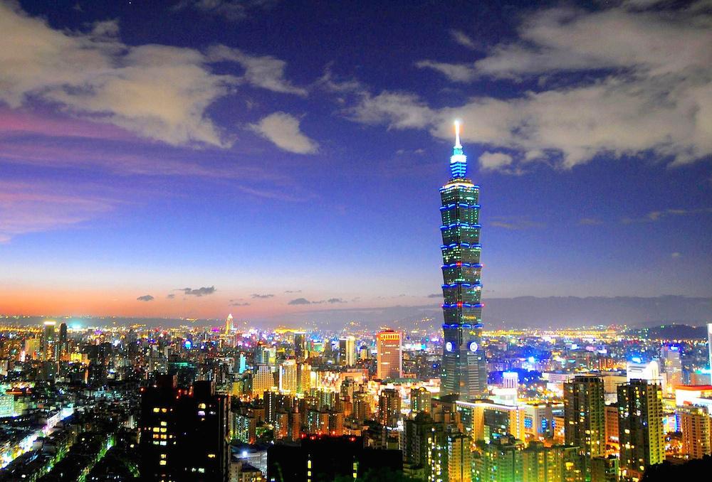 The Taipei skyline at night. Flickr/Creative Commons/Arlene Hsu