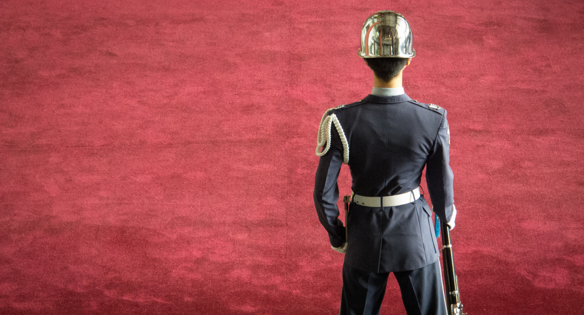 Taiwanese guard. Flickr/Creative Commons/Tai Gray