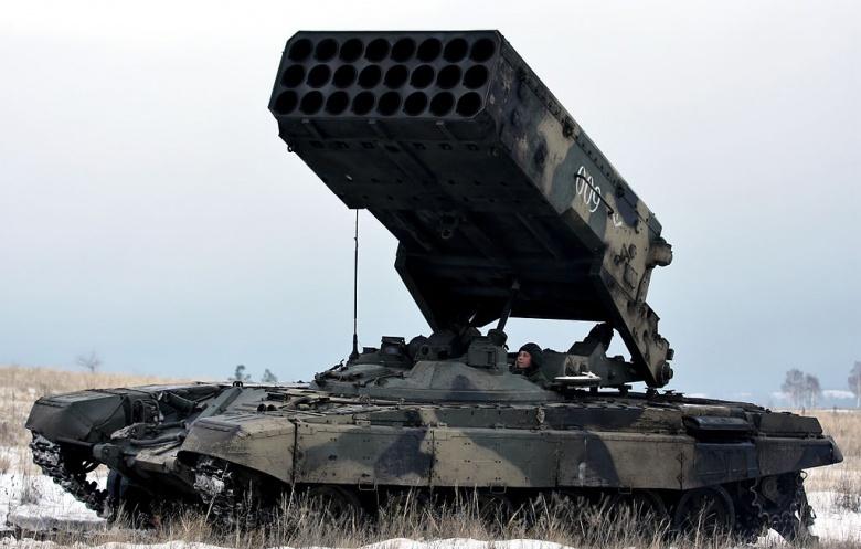 TOS-1A unit at at Shikhani training ground. Wikimedia Commons/Vitaly V. Kuzmin