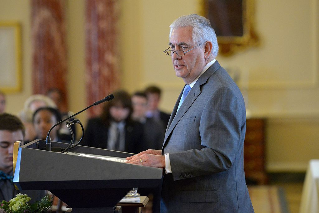 Rex Tillerson on March 7, 2017. Wikimedia Commons/Department of State