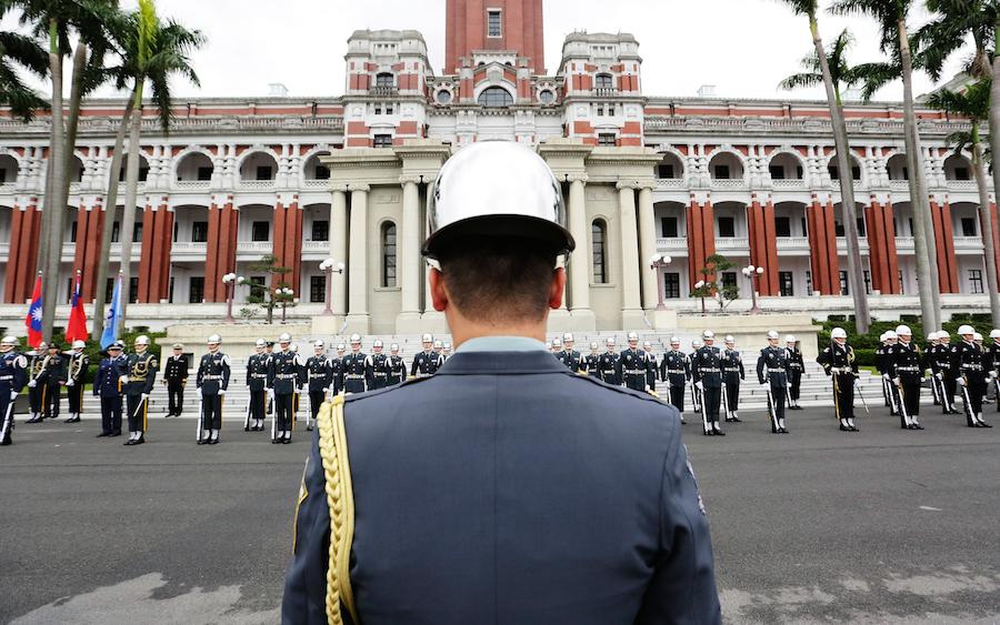 Honor guard at Taipei's presidential palace. Wikimedia Commons/Creative Commons/Taiwan Presidential Office