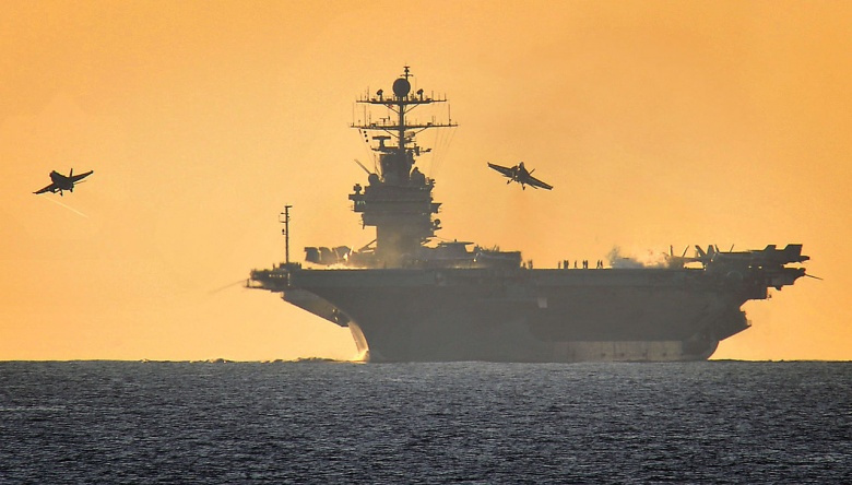 USS Harry S Truman during flying operations in the Mediterranean. Wikimedia Commons/LA(Phot) Jennifer Lodge/UK Ministry of Defence