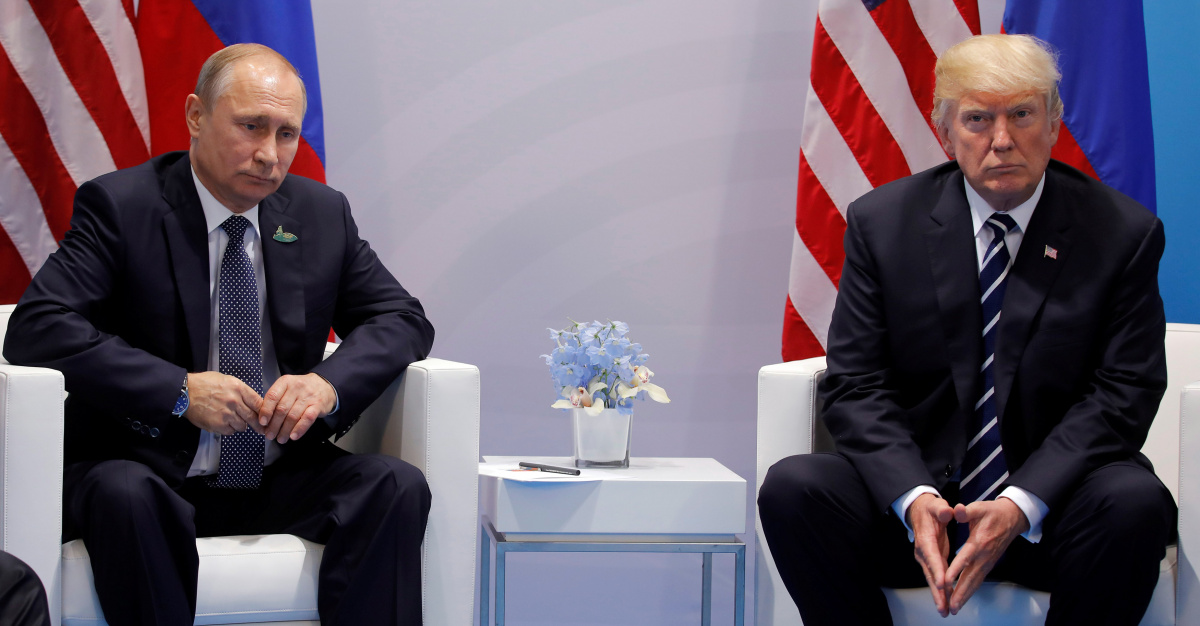 U.S. President Donald Trump meets with Russian President Vladimir Putin during their bilateral meeting at the G20 summit in Hamburg, Germany