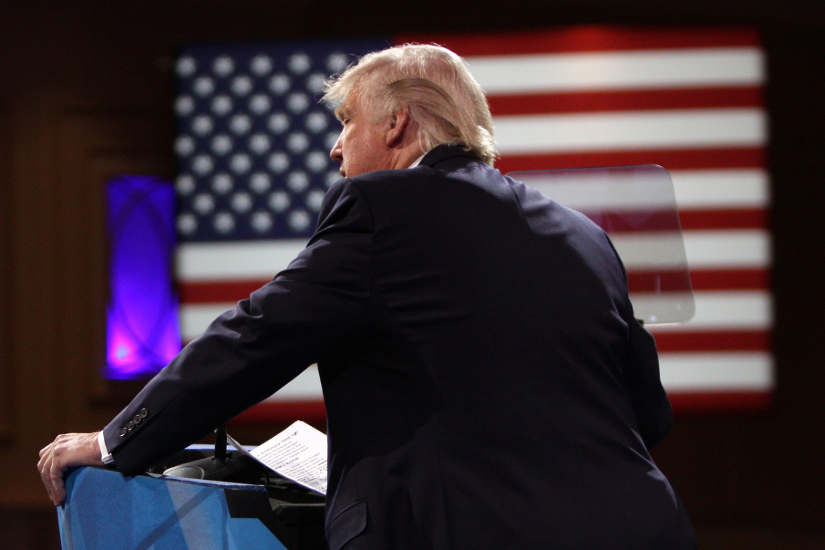 Donald Trump speaking at the 2013 Conservative Political Action Conference. Flickr/Creative Commons/Gage Skidmore