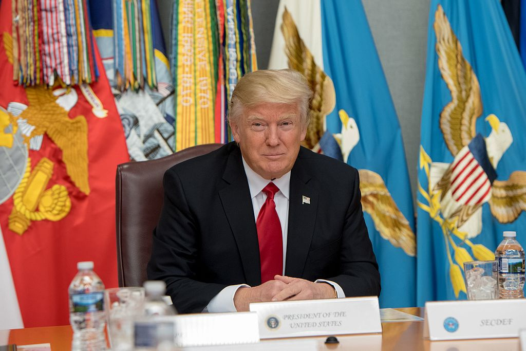 President Donald Trump at the Pentagon, January 2017. Wikimedia Commons/Department of Defense