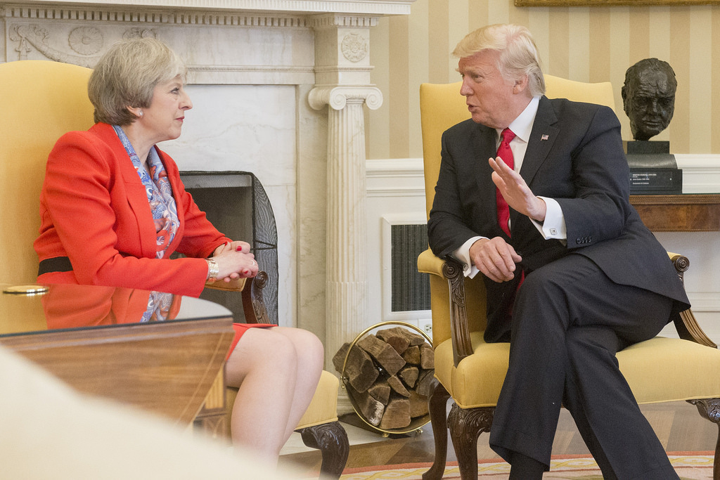British prime minister Theresa May with Donald Trump. Flickr/Creative Commons/Number 10