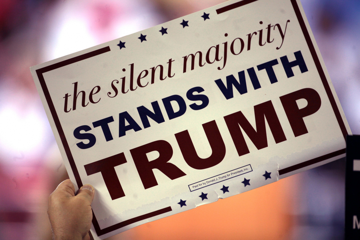 Sign for Donald Trump at a rally in Phoenix, Arizona. Flickr/Creative Commons/Gage Skidmore