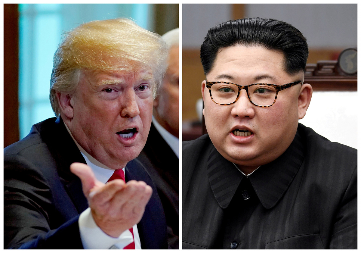 A combination photo shows U.S. President Donald Trump and North Korean leader Kim Jong Un