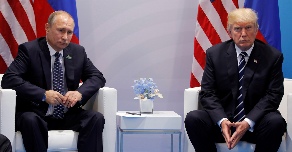 U.S. President Donald Trump meets with Russian President Vladimir Putin during their bilateral meeting at the G20 summit