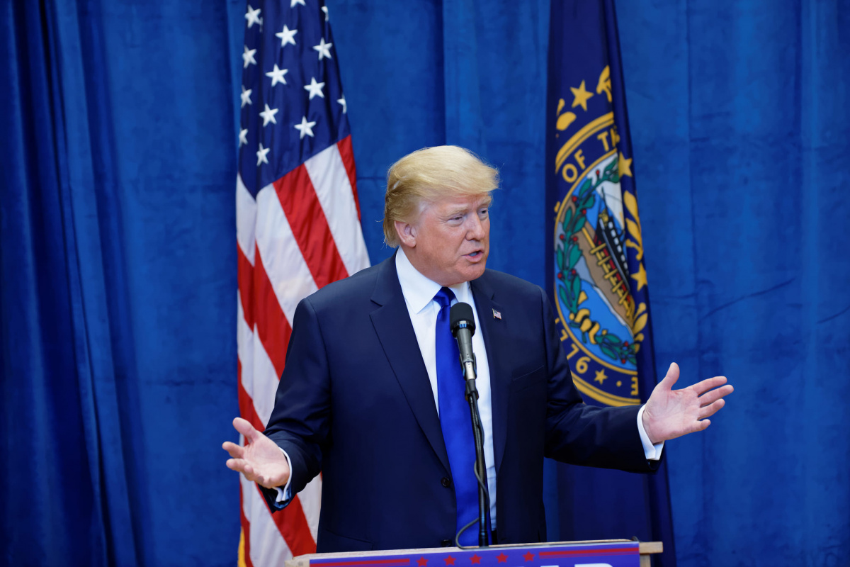 Donald Trump at a New Hampshire town hall. Flickr/ Creative Commons/ Michael Vadon.