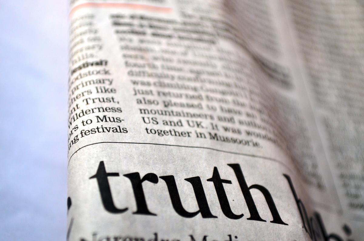 Newspaper truth.