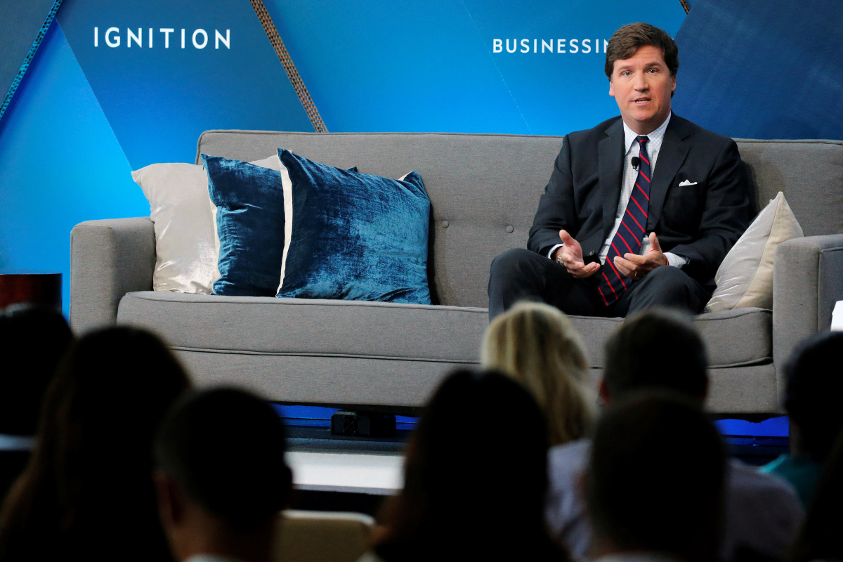 Fox personality Tucker Carlson speaks at the 2017 Business Insider Ignition: Future of Media conference in New York