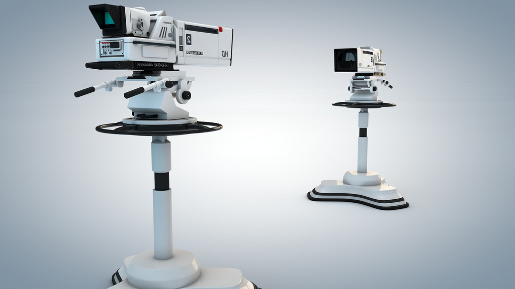 Rendering of TV studio camera. Flickr/Creative Commons/Rem Vandermeer