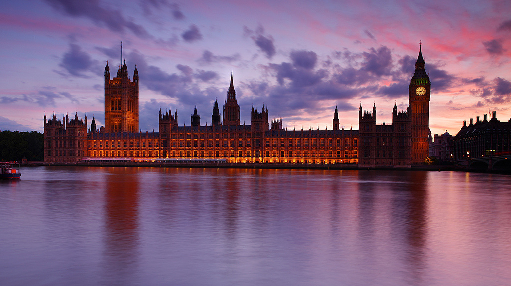 Houses of Parliament at dusk, London, UK. Flickr/Creative Commons/Eric Hossinger