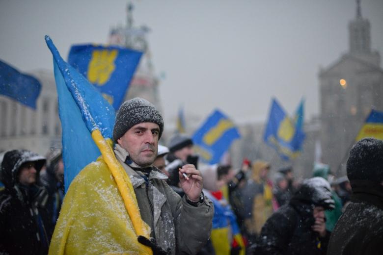 A Euromaidan protester in Kiev. Flickr/Ivan Bandura