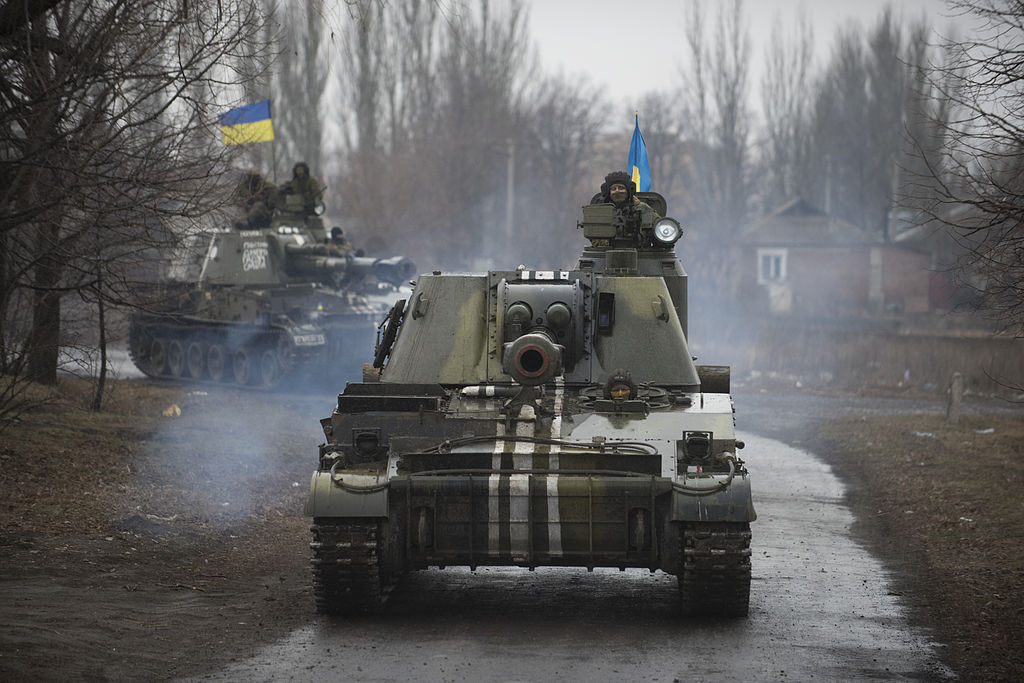 Ukrainian 2S3 Akatsiya in Donbass, March 2015. Wikimedia Commons/Creative Commons/OSCE Special Monitoring Mission to Ukraine