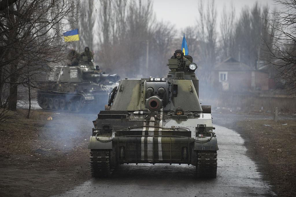 Ukrainian 2S3 Akatsiya in Donbass, March 2015. Wikimedia Commons/Creative Commons/OSCE Special Monitoring Mission to Ukraine