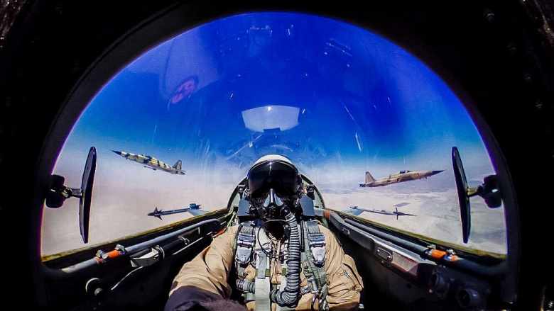 Lt. Col. William Sheridan pilots a F-5N. Flickr/U.S. Marines
