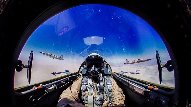 Lt. Col. William Sheridan pilots a F-5N. Flickr/U.S. Marines