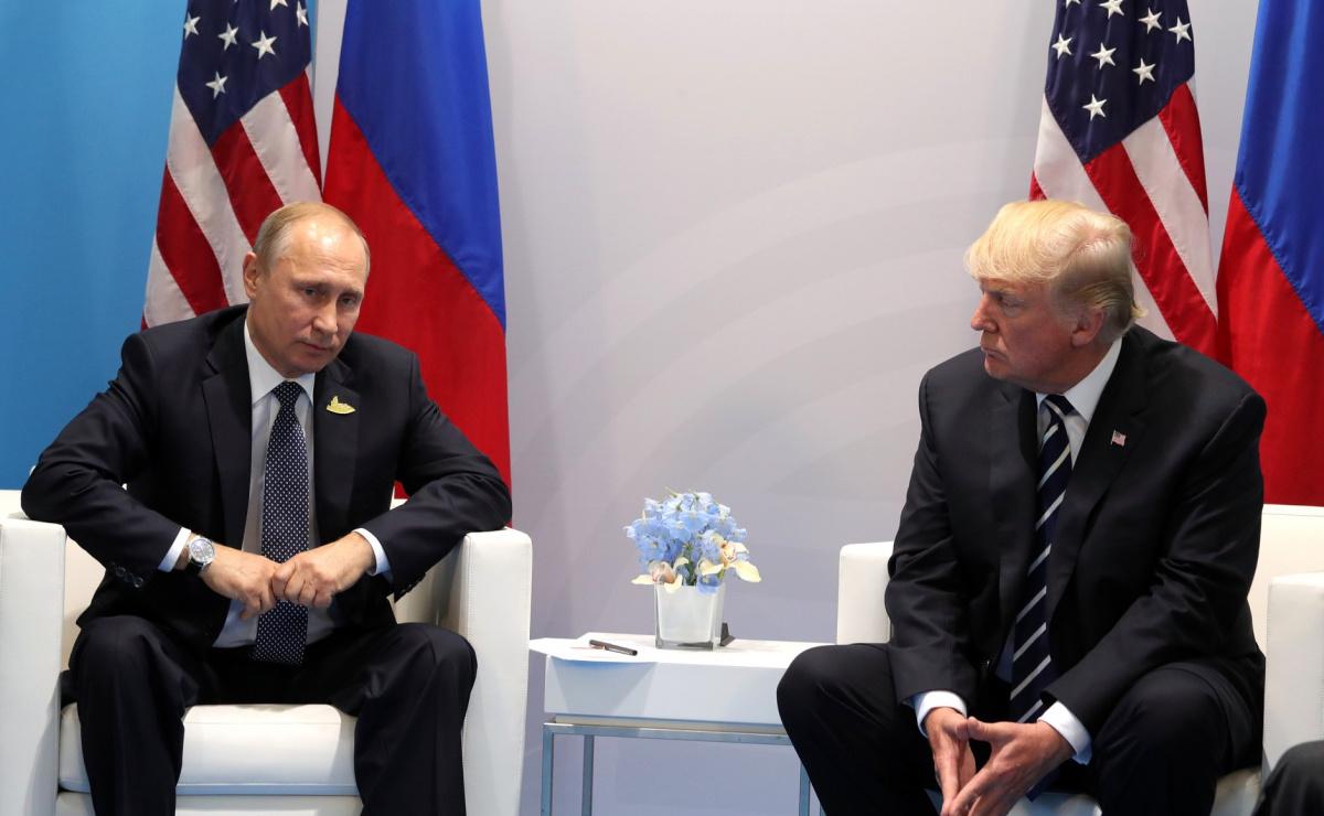 Vladimir Putin and Donald Trump meet at the 2017 G-20 Hamburg Summit. Wikimedia Commons