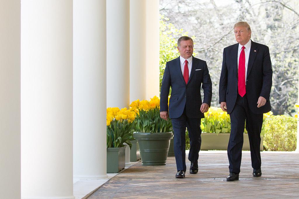 President Donald J. Trump and King Abdullah II of Jordan. Flickr/The White House
