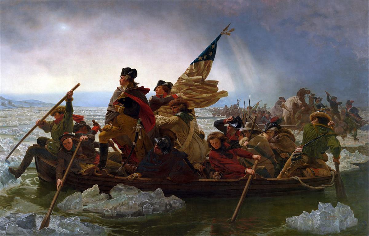 Washington Crossing the Deleware. Wikimedia Commons