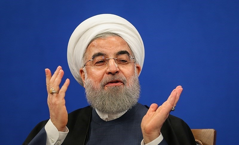 Iranian president Hassan Rouhani's first press conference in 2017. Wikimedia Commons/Tasnim News Agency/Hamed Malekpour