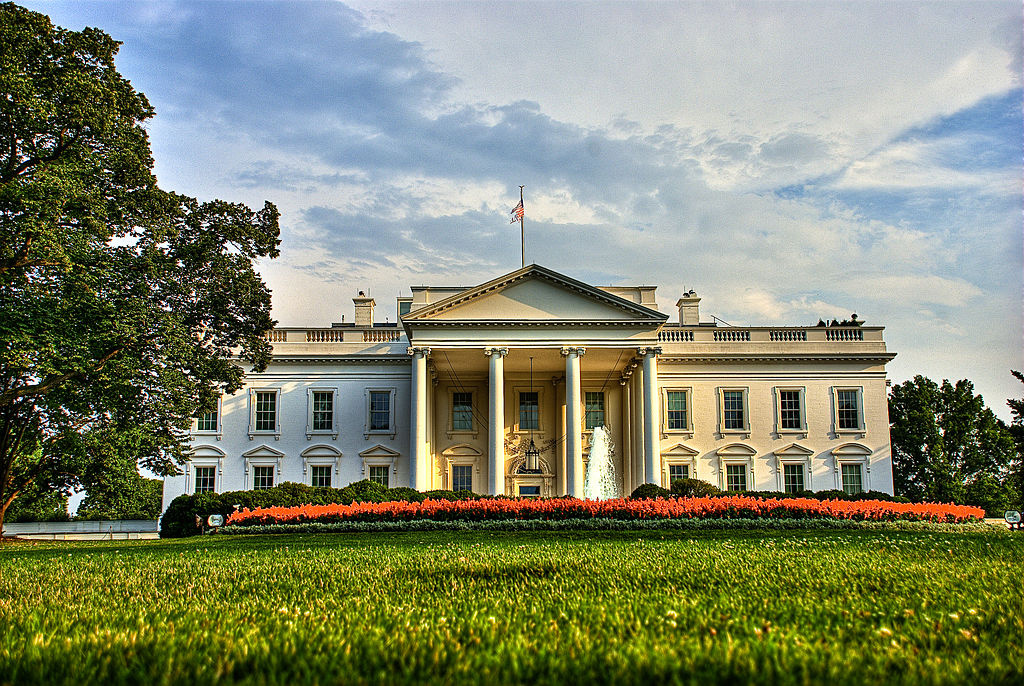 View of north front of the White House, Washington, DC. Wikimedia Commons/Creative Commons/Francisco Diez