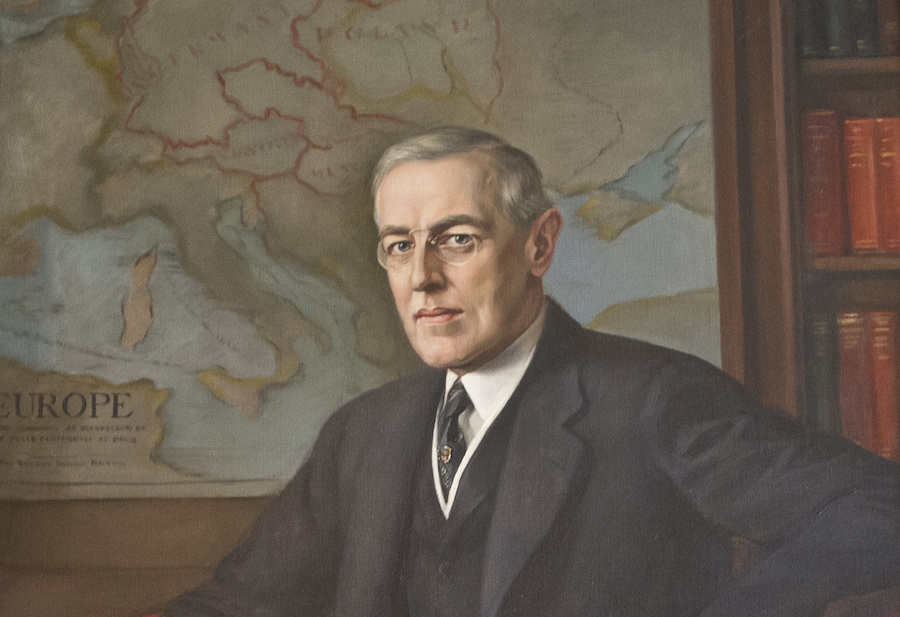 Portrait of Woodrow Wilson at Washington's Woodrow Wilson House. Flickr/Creative Commons/Tim Evanson