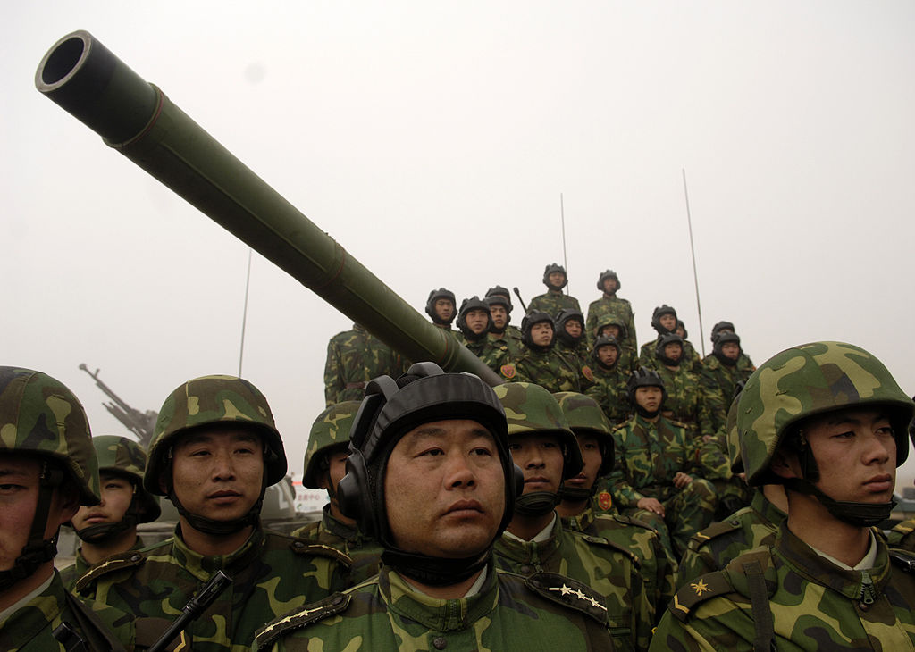 Chinese tanker soldiers with the People's Liberation Army. Wikimedia Commons/U.S. Air Force