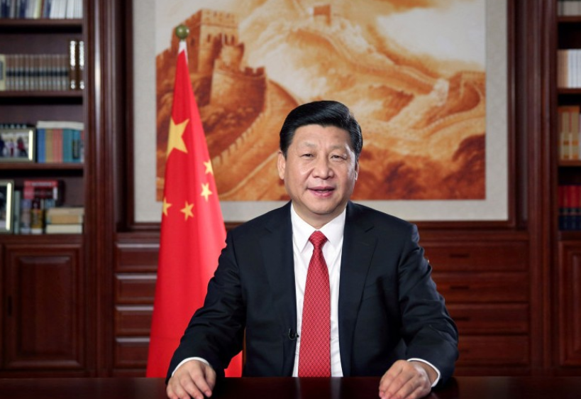 Xi Jinping delivers his 2015 New Year's address. Flickr/Creative Commons/@Hye900711