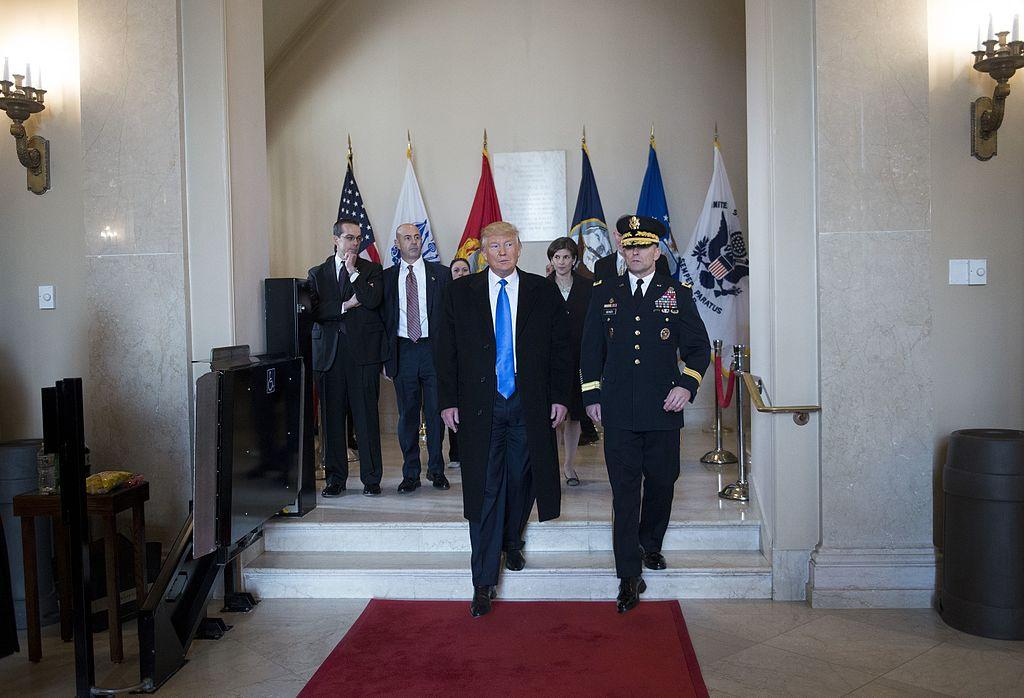 Donald J. Trump at Arlington National Cemetery. Wikimedia Commons/U.S. Army