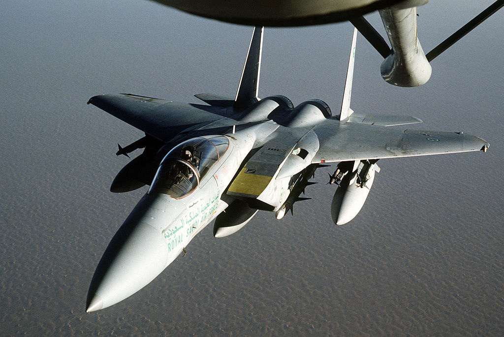 Royal Saudi Air Force F-15 Eagle fighter aircraft. Wikimedia Commons/Department of Defense