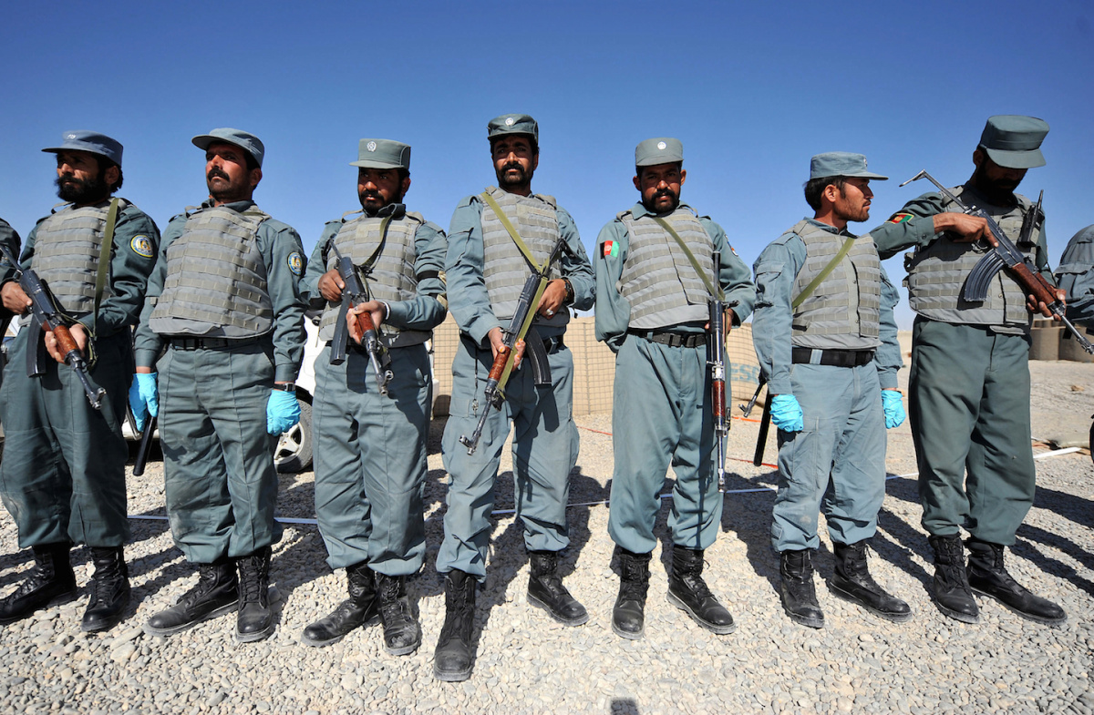 Afghan National Police in Helmand Province. Flickr/U.S. Central Command
