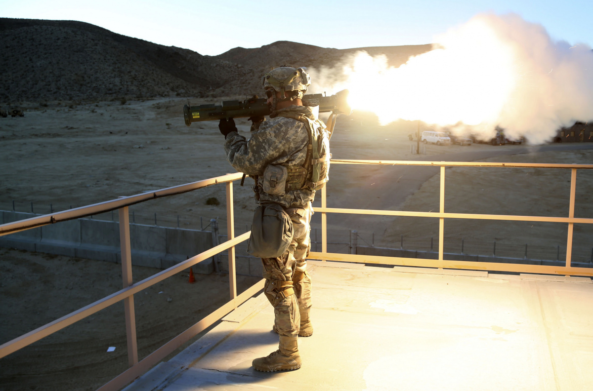 A U.S. Army soldier fires a simulated M136 AT4 anti-armor weapon. Flickr/U.S. Army