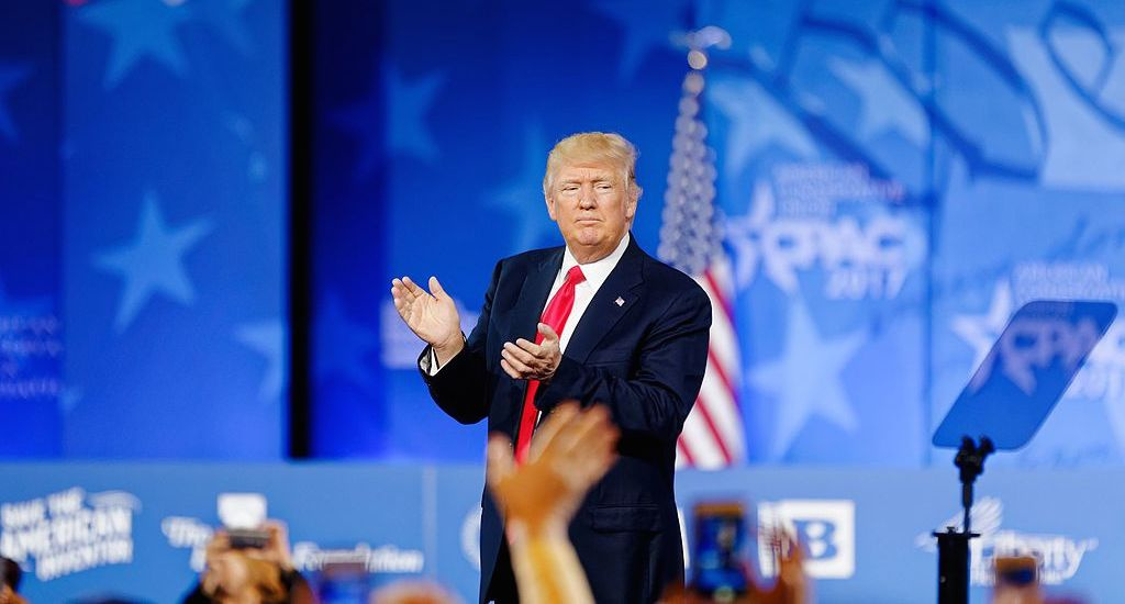 Donald Trump at CPAC 2017. Wikimedia Commons/Creative Commons/Michael Vadon