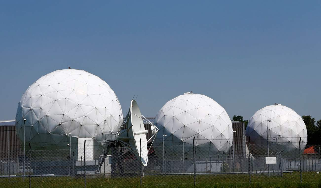 A general view of the large former monitoring base of the U.S. intelligence organization National Security Agency (NSA) in Bad Aibling south of Munich, June 18, 2013. German Chancellor Angela Merkel defended government monitoring of Internet communications on Monday, saying a day before President Barack Obama visits Berlin that Washington's cyber-snooping had helped prevent attacks on German soil. Obama has come under fire for the scope of surveillance by the NSA revealed by former government contractor Edw