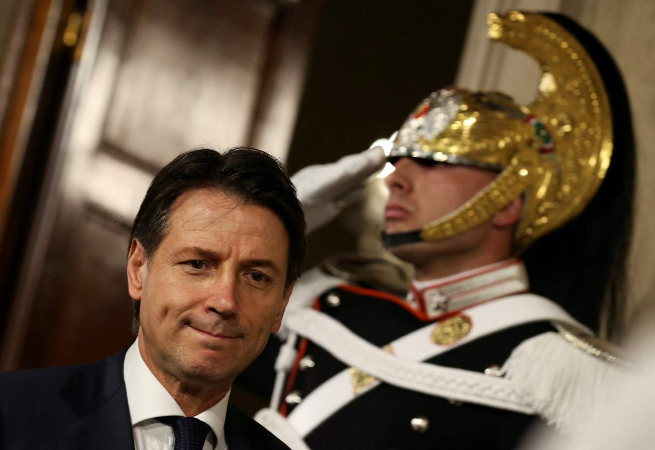 Italy's Prime Minister-designate Giuseppe Conte leaves after a meeting with the Italian President Sergio Mattarella at the Quirinal Palace in Rome, Italy, May 27, 2018. REUTERS/Alessandro Bianchi