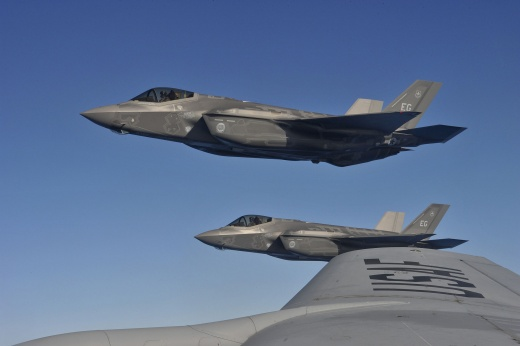 The Lockheed Martin F-35A Joint Strike Fighter Gets Ready for a 'Fake' Fight