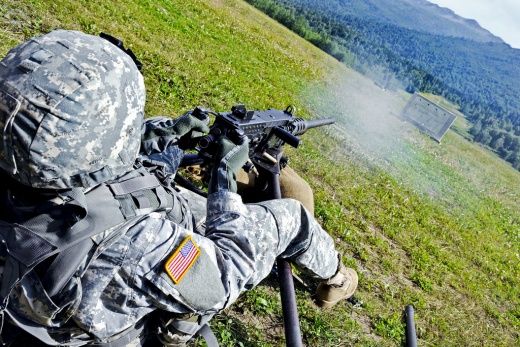 U.S. Army Networks 50-cal Sights to Helmet Display