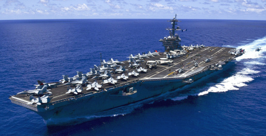 China On Edge as U.S. Aircraft Carrier Exercises in South China Sea