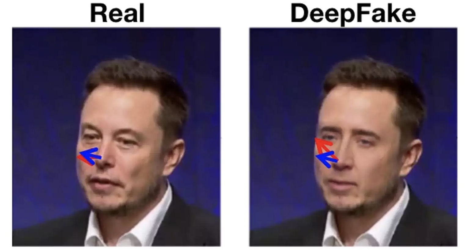 When a computer puts Nicolas Cage's face on Elon Musk's head, it may not line up the face and the head correctly. Siwei Lyu, CC BY-ND