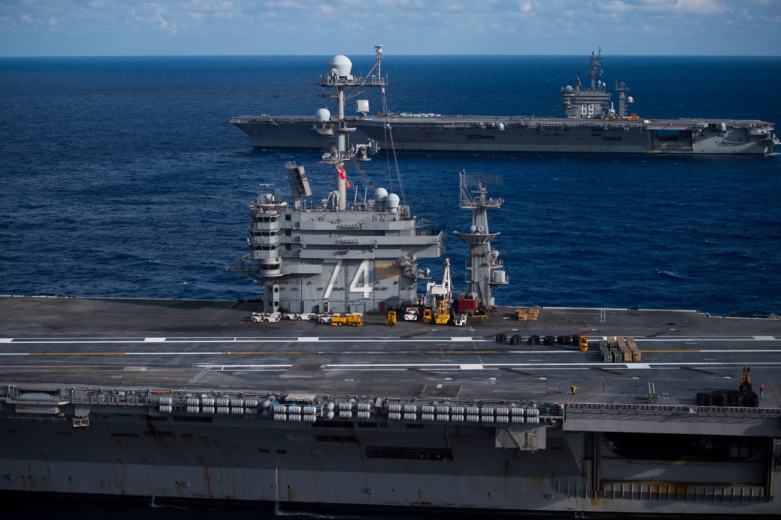Iran Staged a Savage Mock Attack on a U.S. Aircraft Carrier Back in