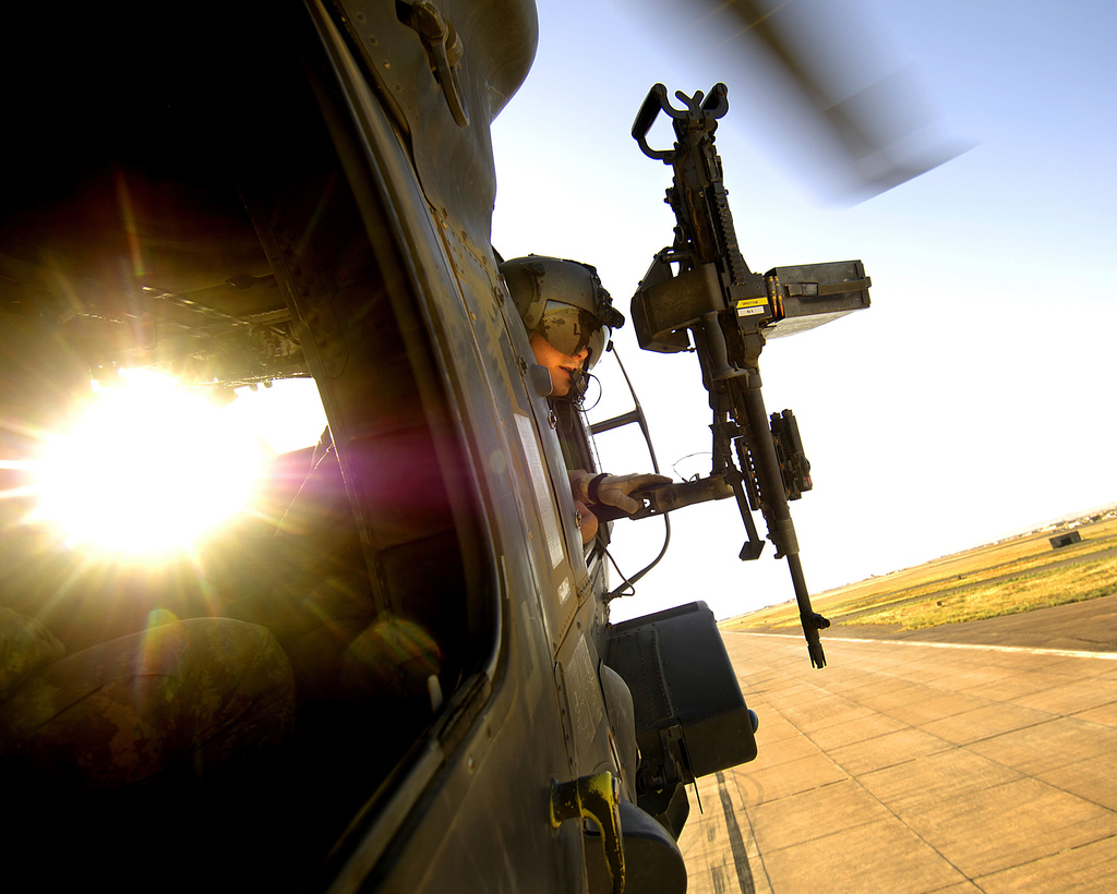 You Don't Have To Go To War To Fire A Machine Gun From A Helicopter Anymore