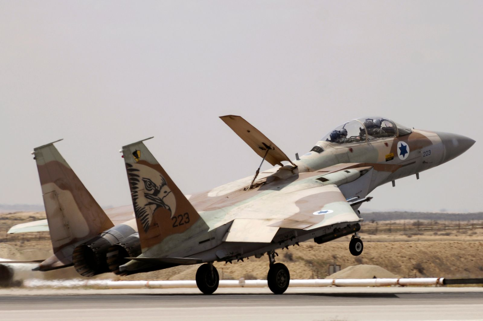 Israel air force F-15C fighter aircraft