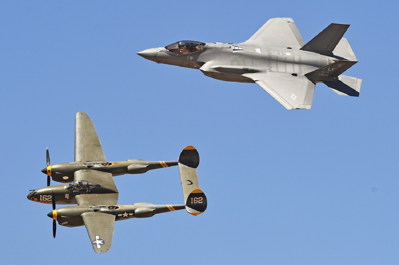 Why are F-35 Stealth Fighters Dogfighting Old P-38 Lightings?