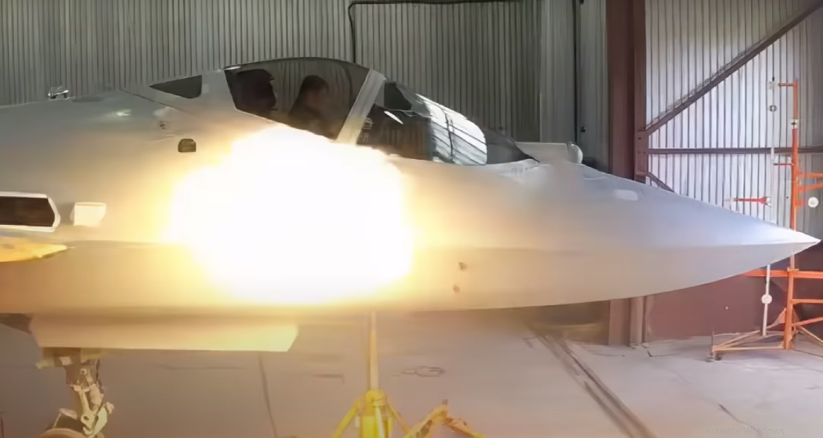 Su-57 testing GSh-301 high-speed cannon