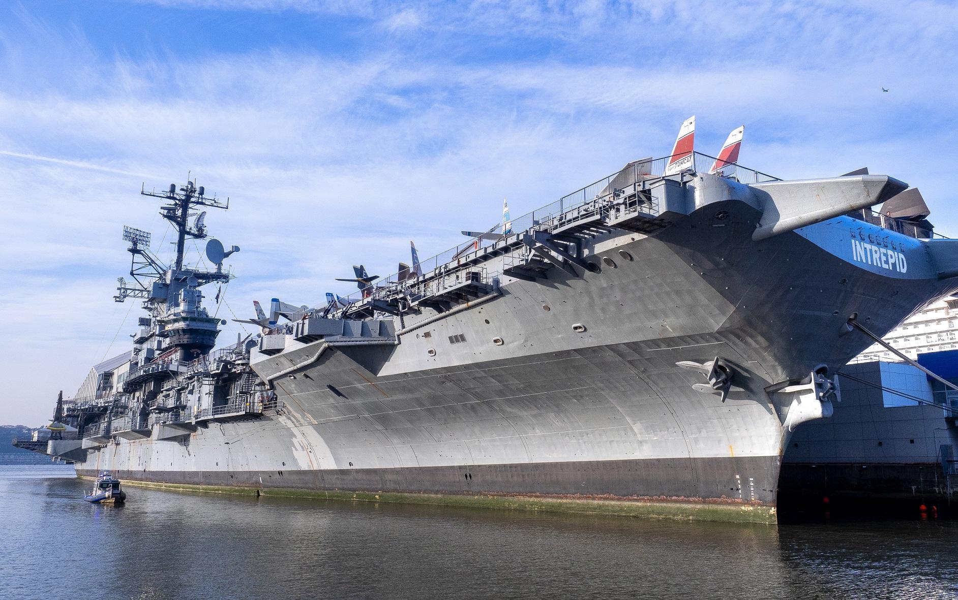WW II aircraft carrier print USS Intrepid CV 11