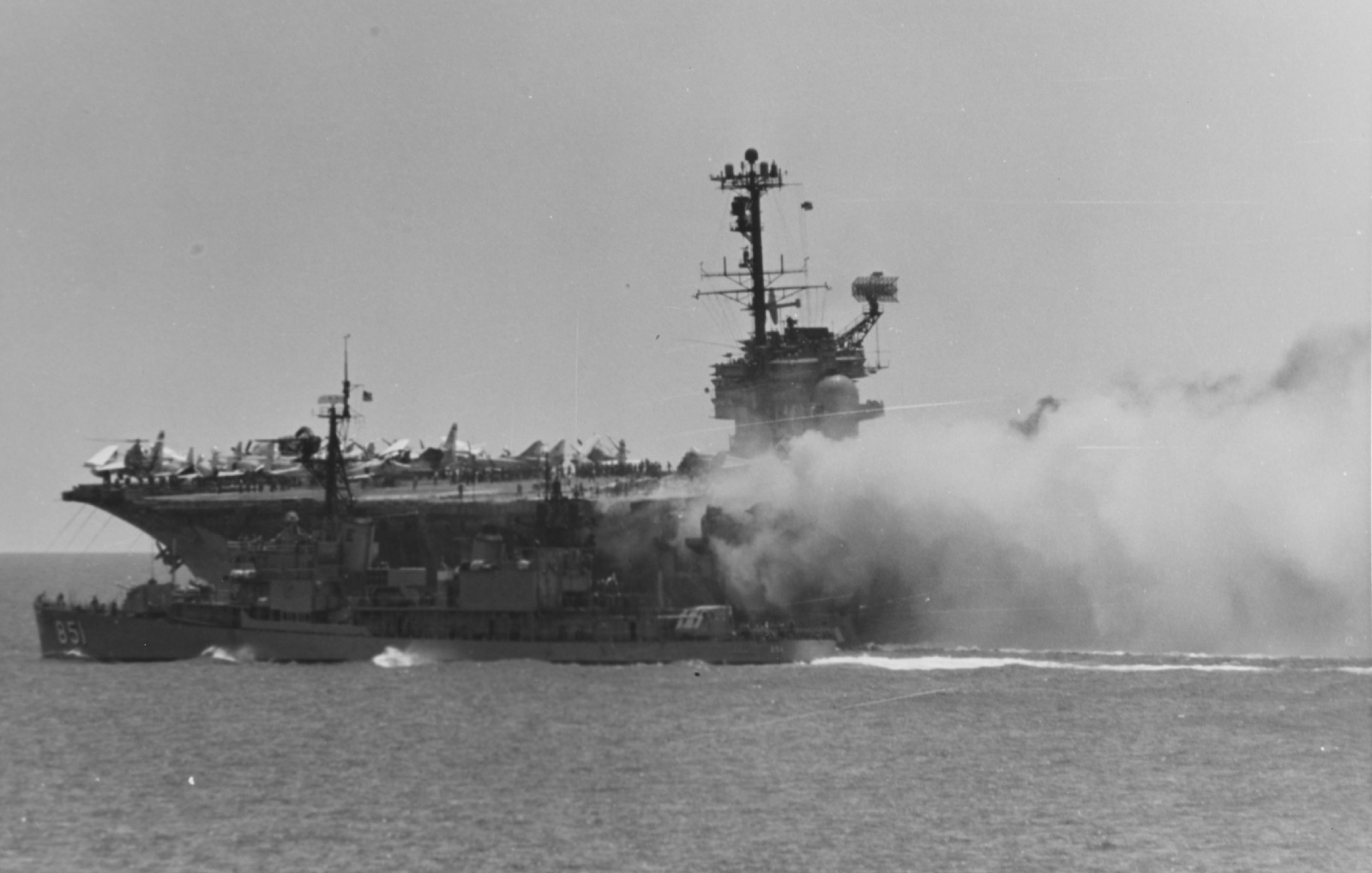 A Rocket Exploded and Almost Sunk a U.S. Navy Aircraft Carrier