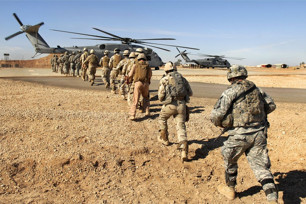 Lesson for Iran?: With U S  82nd Airborne Division in the Air, War